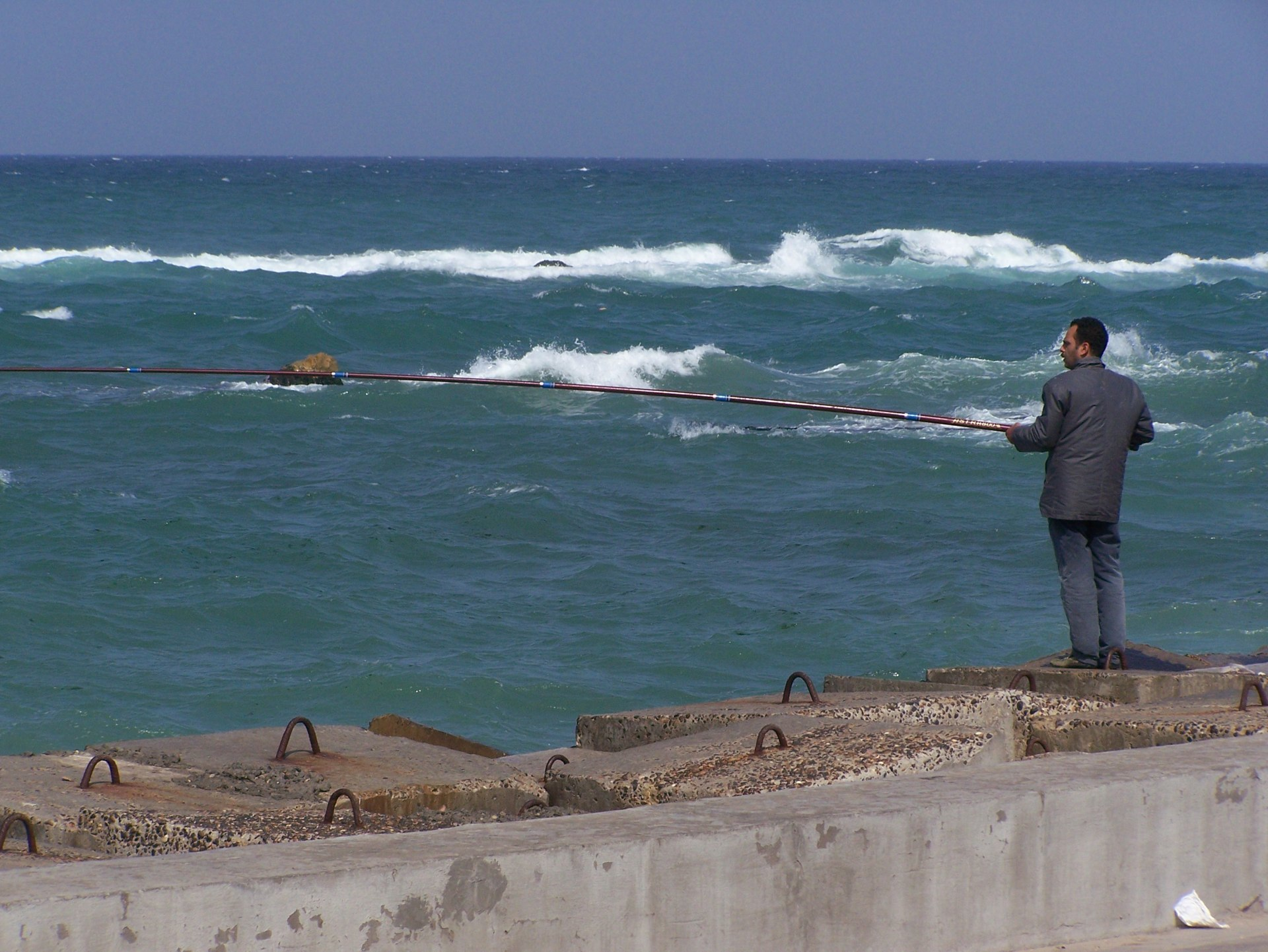 Angler am Meer, Alexandria