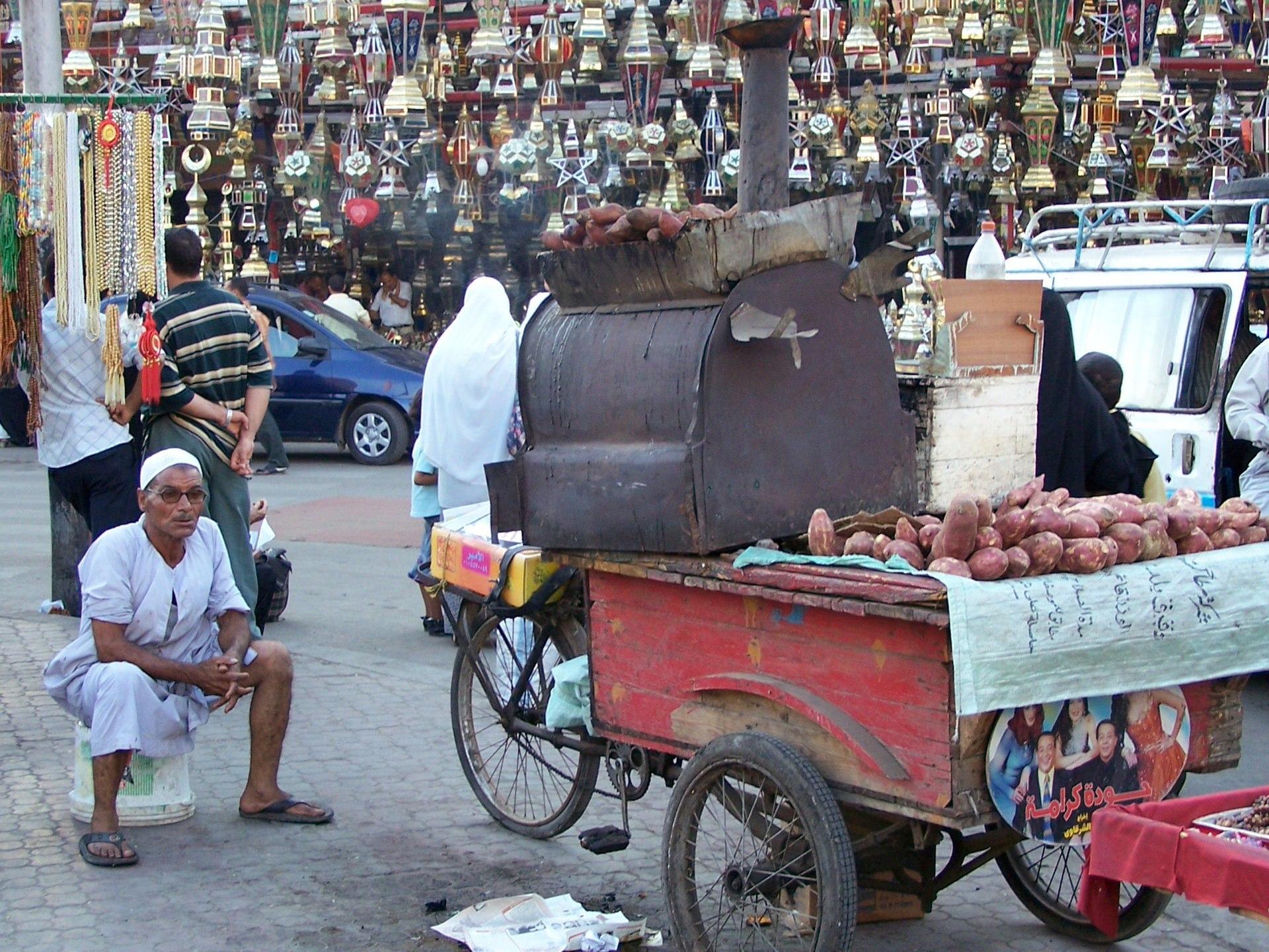 Süßkartoffel Röster, Kairo