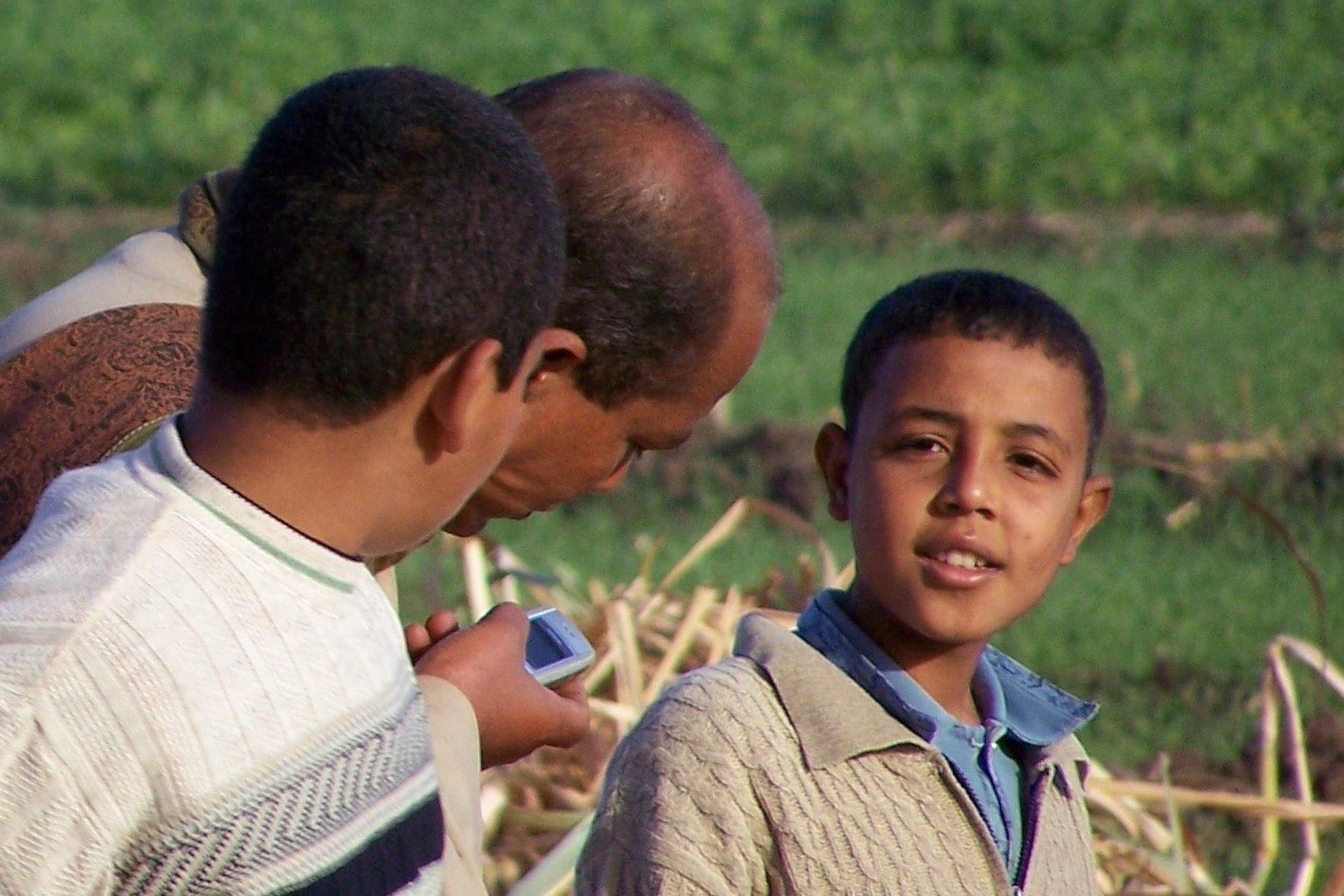 Luxor Mann mit Kindern