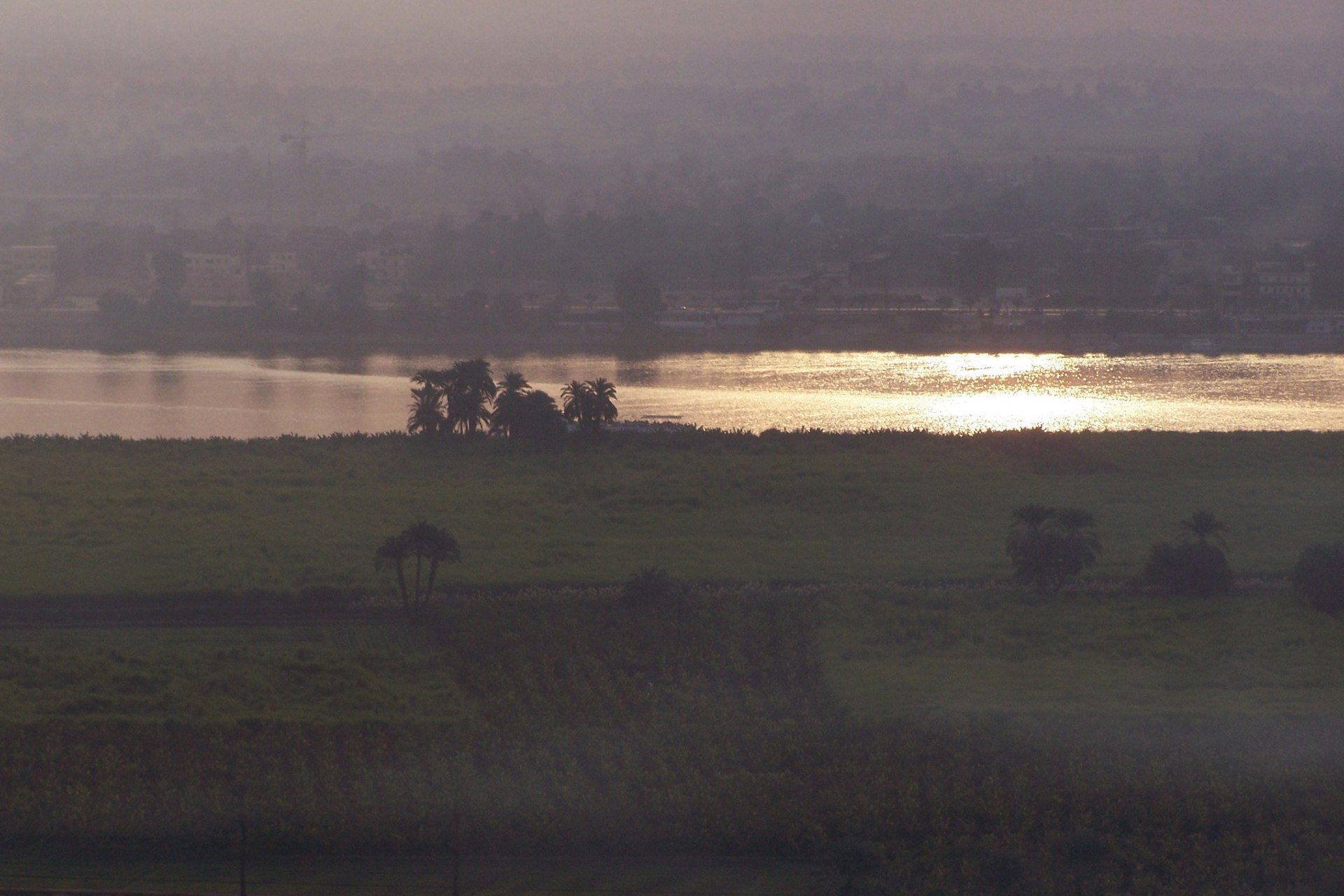 Luxor Nil Abend