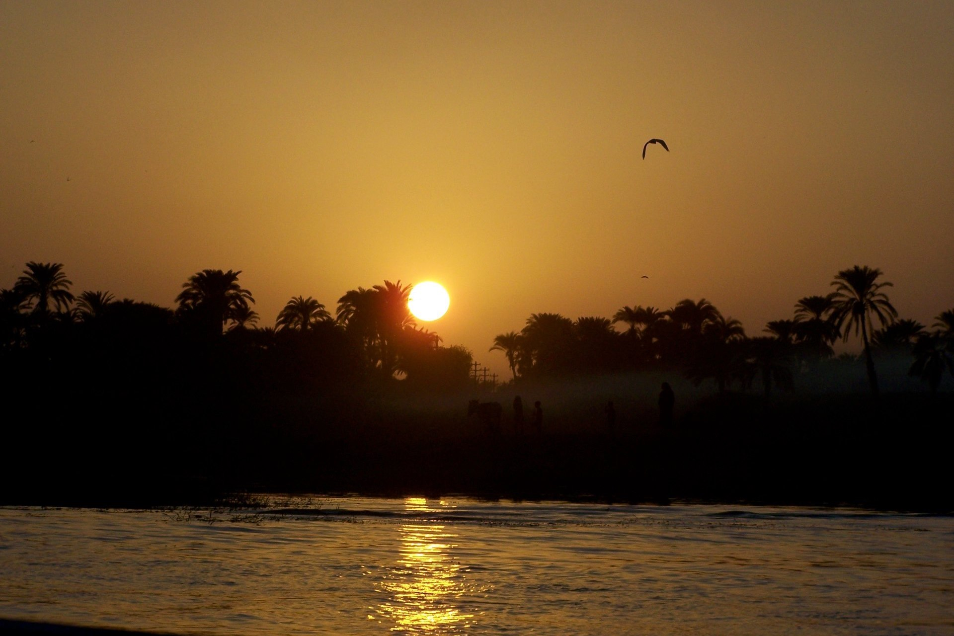 Luxor Sonnenuntergang