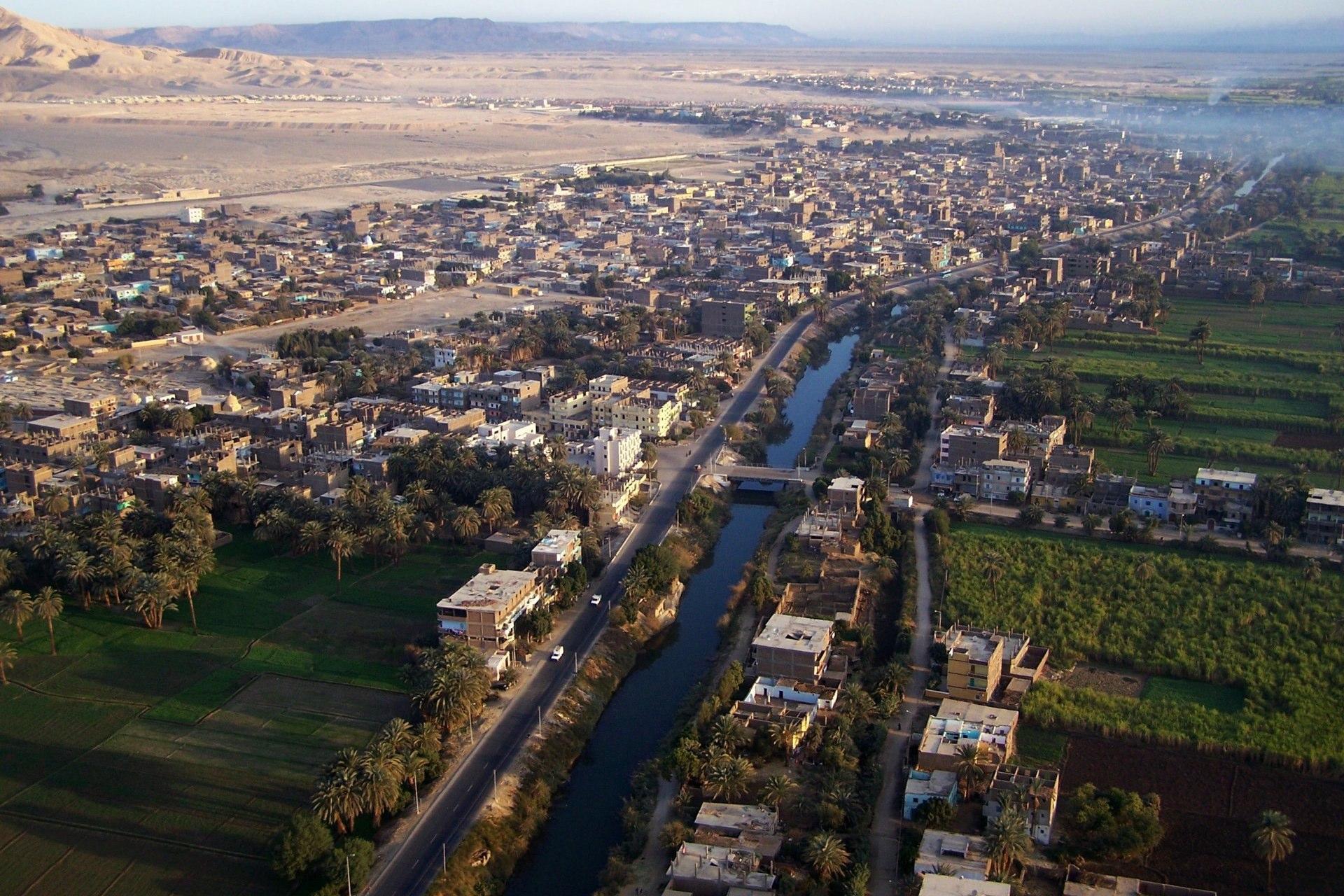 Luxor Stadt Vogelperspektive