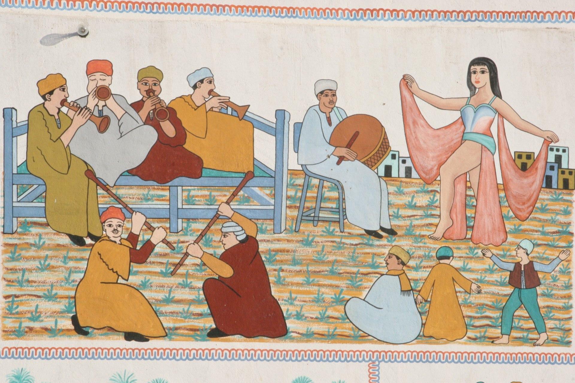 Wandgemälde in Luxor