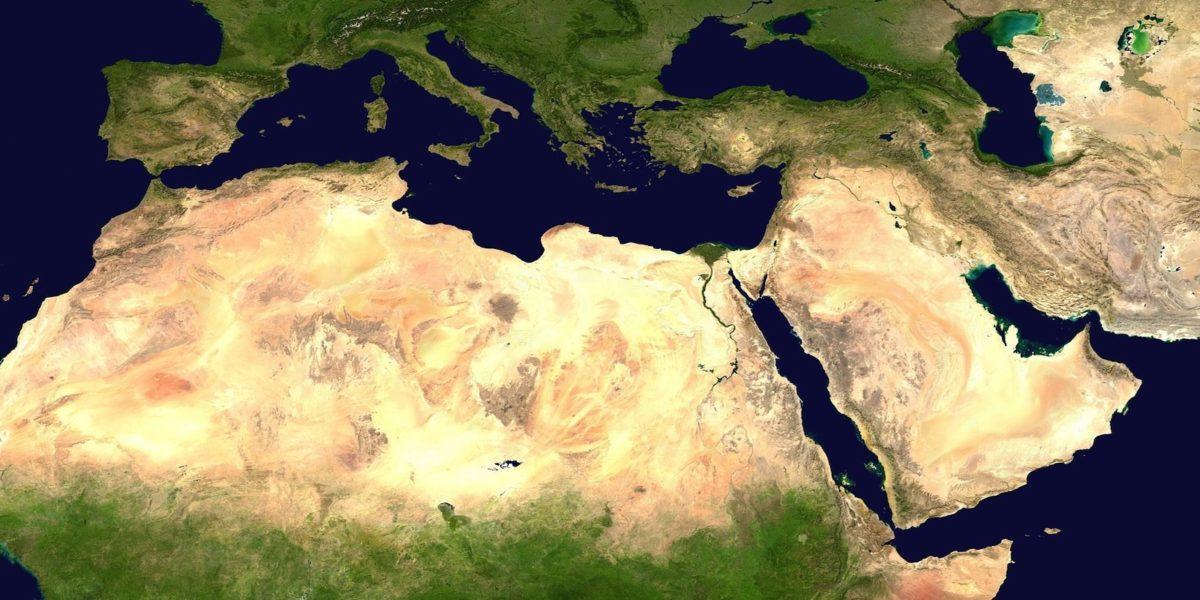 Luftaufnahme von Afrika